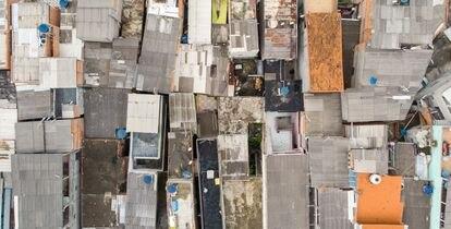 Vista aérea das casas do Jardim Lapena.