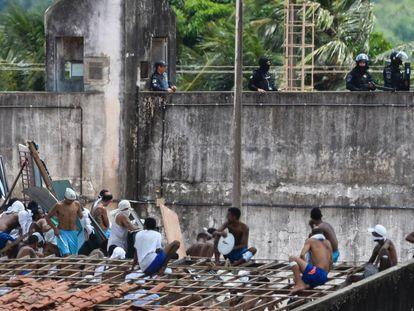 Motim, no ano passado no cárcere de Alcaçuz, no estado Rio Grande do Norte (Brasil).