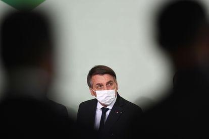 O presidente Jair Bolsonaro durante evento, no dia 25 de agosto.