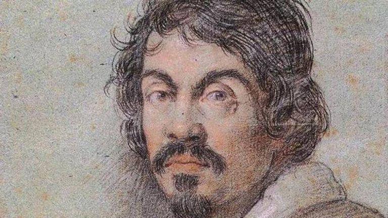 Retrato de Caravaggio desenhado por Ottavio Leoni.