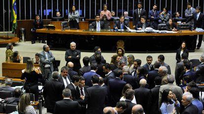 O plenário da Câmara, em Brasília.