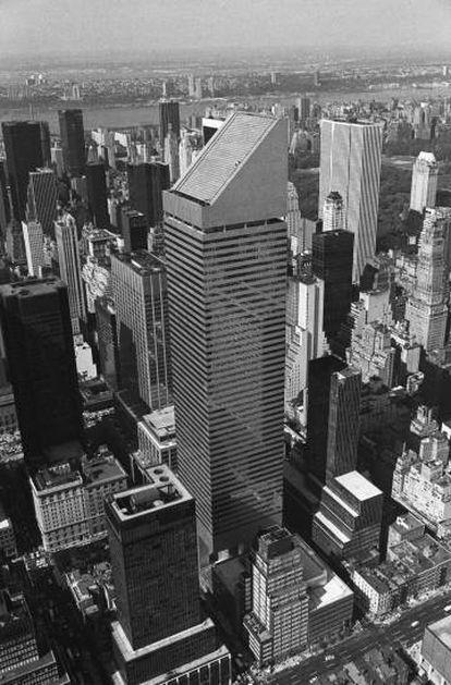 Vista do Citicorp em 1977, na época o oitavo arranha-céu mais alto do mundo.