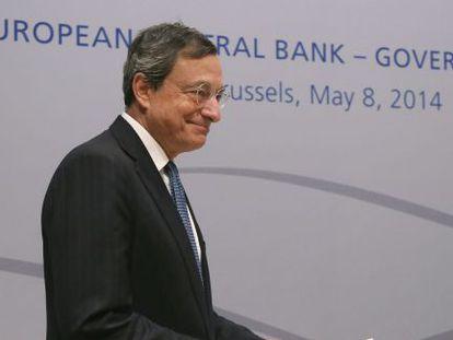 Mario Draghi nesta quinta-feira em Bruselas.