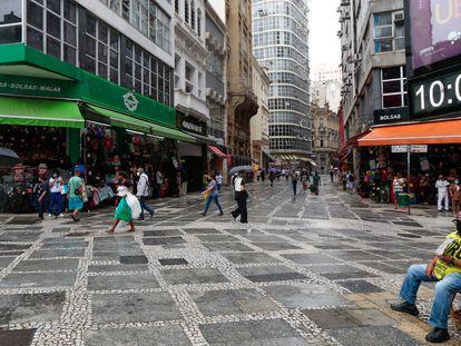 O Centro de São Paulo na sexta-feira, antes do aumento da rigidez nas medidas para tentar conter a disseminação do novo coronavírus.