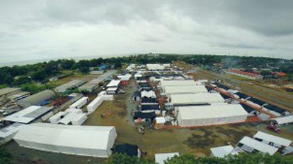 O maior hospital para o ebola da história, na Monróvia (Libéria).