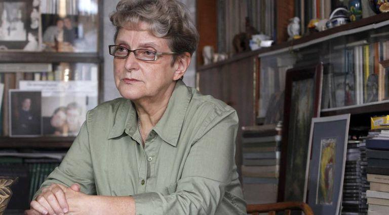 Svetlana Gannushkina, durante uma entrevista em sua casa de Moscou, em outubro de 2011.