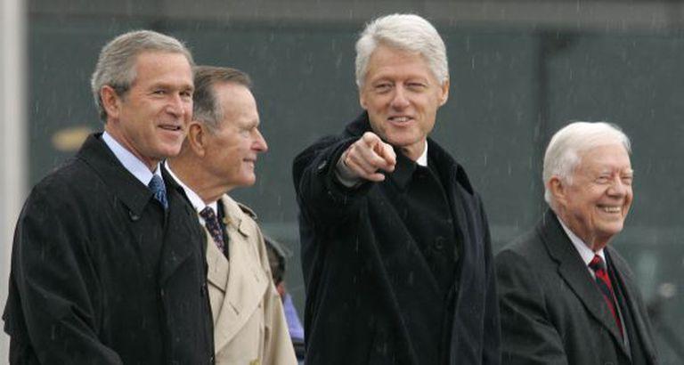 Os quatro ex-presidentes vivos, em foto de arquivo.
