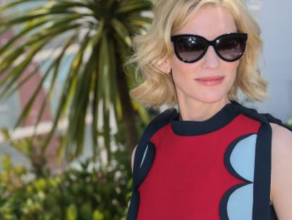 Cate Blanchett no festival de cinema de Cannes.