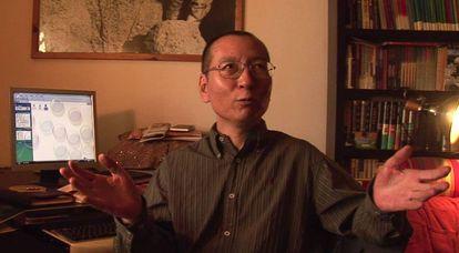 Liu Xiaobo, durante uma entrevista em Pequim, dois dias antes de sua prisão, em dezembro de 2008.