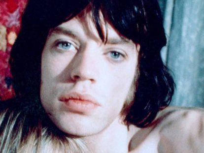 Mick Jagger e Anita Pallenberg durante a rodagem de 'Performance', em 1970.