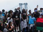 Una protesta del movimiento Black Lives Matter, en Brooklyn, Nueva York.