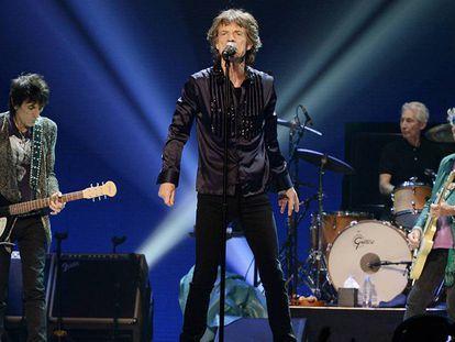 Os Rolling Stones, em um concerto no Honda Center de Anaheim, em Califórnia, o passado 4 de outubro.