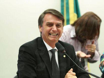 Deputado Jair Bolsonaro no final de 2016.