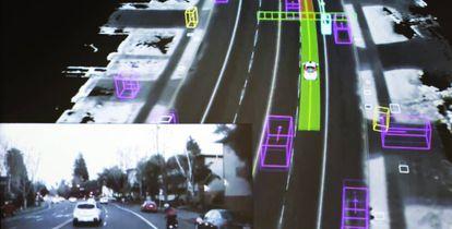 O carro autônomo falará com os demais envolvidos no trânsito e com a infraestrutura viária (placas, painéis informativos…) através da Internet das coisas, e processará a informação em tempo real para tomar a decisão mais apropriada para o momento.