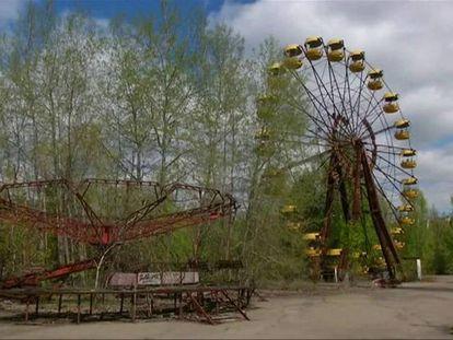 A cidade de Chernobyl, na Ucrânia, tomada pela natureza.