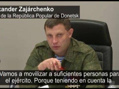 Alexander Zakharchenko, nesta segunda-feira, em entrevista à imprensa.
