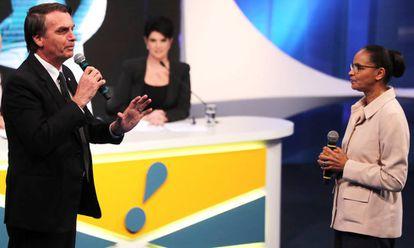Bolsonaro e Marina no debate da RedeTV!