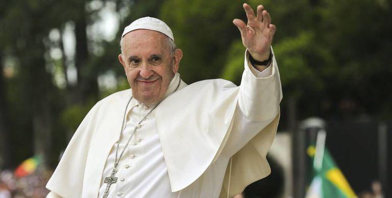 O papa Francisco em Fátima.