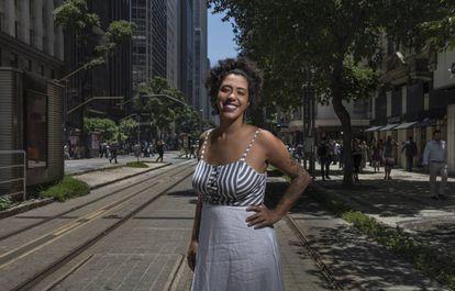 A deputada federal Talíria Petrone, fotografada no Rio em 2019, pouco depois de ser eleita.