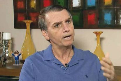 Jair Bolsonaro durante entrevista na TV Record.