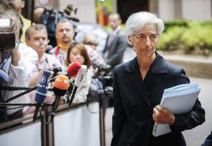 Christine Lagarde, no último domingo.