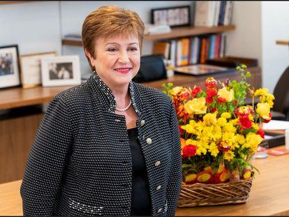 Kristalina Georgieva, diretora-gerente do Fundo Monetário Internacional, em uma imagem de fevereiro.