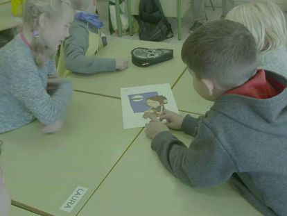 Alunos na escola finlandesa de Fuengirol.