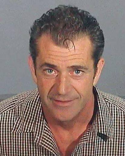 Mel Gibson, na foto de sua ficha policial depois de ter sido preso em 2006 por dirigir bêbado.
