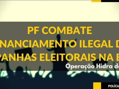PF anuncia operação nas redes sociais.