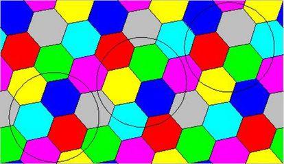 As circunferências que aparecem no desenho têm raio 1.