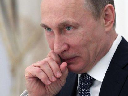 O presidente russo, no dia 22 de abril.