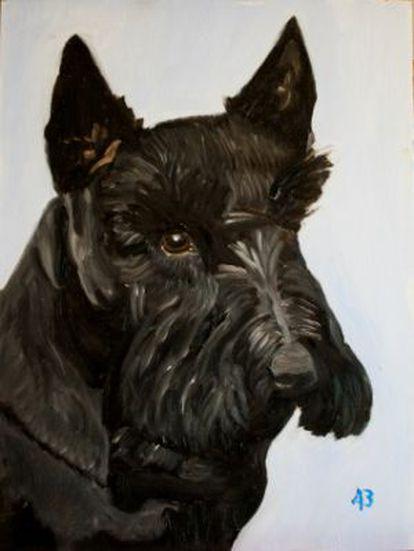 O scottish terrier que esteve com a família Bush por oito anos na Casa Branca