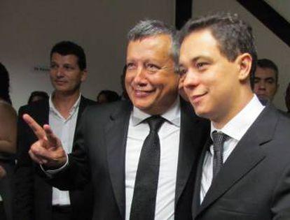 Bonavita, fundador do PFC, ao lado de Juninho, ex-prefeito.