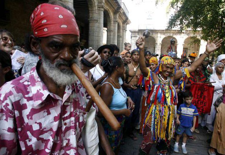 Homenagem em Havana aos escravos.