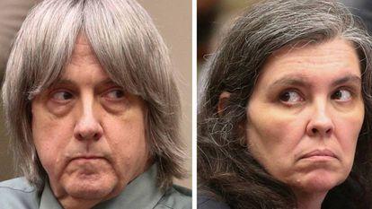 David Allen Turpin e Louise Anna Turpin, diante do juiz no dia 4 de maio de 2018.