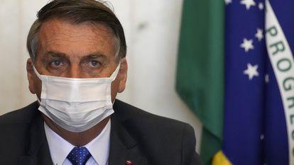 O presidente Bolsonaro em evento na Câmara dos Deputados.