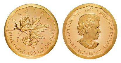 As duas faces da moeda canadense.