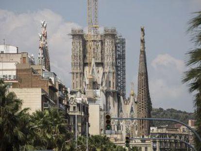 Torres centrais do templo estão a menos de três metros das que o arquiteto ergueu na Fachada da Natividade