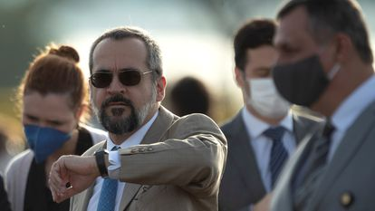 O ministro Abraham Weintraub no dia 9 de junho, em Brasília.