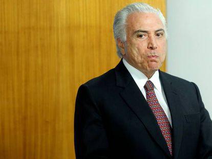 Michel Temer no Palácio do Planalto.