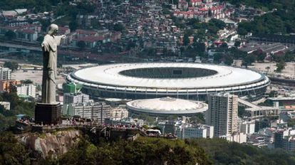 Vista aérea do Maracanã.