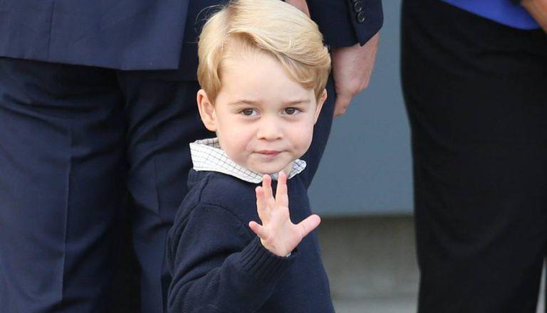 O príncipe Jorge, no Canadá.
