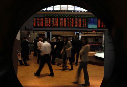 A bolsa de São Paulo, que também foi afetada pela volatilidade.