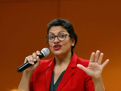 A congressista norte-americana Rashida Tlaib.