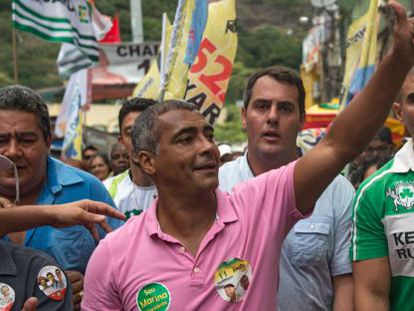 Romário, em uma manifestação no Rio de Janeiro.