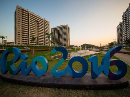 Vista geral da Vila Olímpica e Paralímpica de Rio 2016, na Barra da Tijuca.