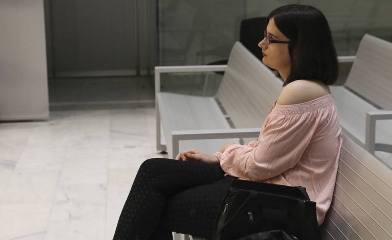 Cassandra Vera no banco dos réus da Audiência Nacional.
