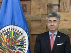 El presidente de la Comisión Interamericana de Derechos Humanos de la OEA, Joel Hernández García.