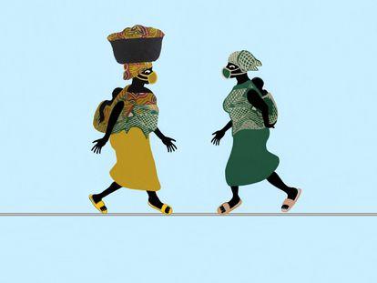 Mulheres na corda-bamba. / LUSMORE DAUDA