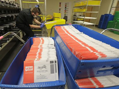 Voto pelo correio nos EUA.